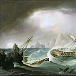 Thomas Buttersworth - Shipwreck off a Rocky Coast