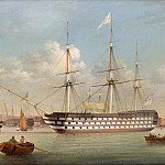 Thomas Buttersworth - H.M.S. Britannia lying off Plymouth