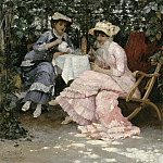 Sitting under the Arbour, Hugo Birger