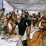 Artists breakfast in Cafe Ledoyen, Hugo Birger