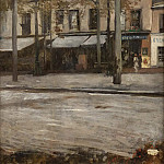 Hugo Birger - A Street in Paris. Study from Montmartre