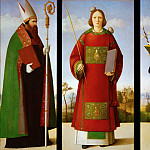 Antonio Barzaghi-Cattaneo - Saint Stephen with Saints Augustine and Nicholas of Tolentino