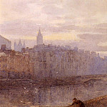 Rose Maynard Barton - Evening On The River Liffey With St.Johns Church In Distance