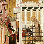 Bernardino de Conti - Scenes from the Life of Saint Columba of Sens - Saint Columba Saved by a Bear