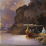 Johan Christoffer Boklund - Carl's Cliff. View of Edsviken