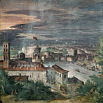 Pinturicchio (Bernardino di Betto) - View of Rome from the Janiculum Hill