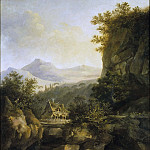 Mountainous Landscape with a Farm, Louis Belanger