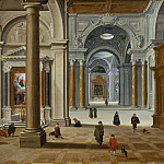 Interior of a Baroque Church, Bartholomeus van Bassen