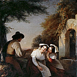 Friedrich Gauermann - Conversation at the fountain