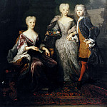 Marie Louise , Princess of Hesse-Kassel, married to John William Friso of Nassau-Dietz and of Orange, with her children Anne Charlotte Amelie and Willem Karel Hendrik Friso [After]