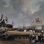The Unveiling of the Equestrian Statue of Carl XIV Johan of Sweden in 1854