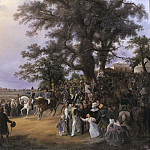 Review in Ladugårdsgärde Fields during Czar Nicolaus' Visit in 1838