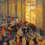 Giovanni Segantini - Riot in the Galleria