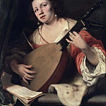 Ferdinand Bol - A Lady Playing the Lute