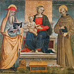 Guidoccio Cozzarelli - Enthroned Madonna and Child with Saints Jerome and Francis of Assisi (Attr)