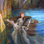 The Nereides, Gaston Bussière