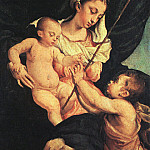 Jacopo Bassano - Madonna And Child With Saint John The Baptist