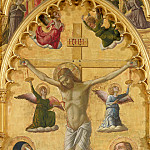 Gentile da Fabriano - Triptych from San Venanzio in Camerino, central panel - Crucifixion