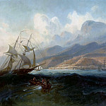 Ferdinand Bellermann - View of La Guaira from the Sea