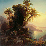 Friedrich Eduard Meyerheim - Coastline of La Guaira at Sunset