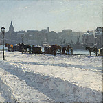 Winter Scene from the Stockholm Waterfront