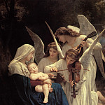 The Virgin with Angels playing music, Adolphe William Bouguereau