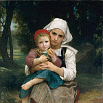 Breton Brother and Sister, Adolphe William Bouguereau