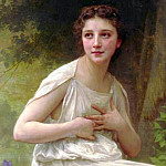 Reflexion, Adolphe William Bouguereau