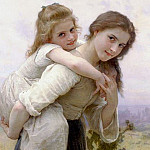 Fardeau agreable, Adolphe William Bouguereau
