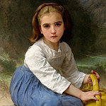 Adolphe William Bouguereau - A Young Girl with a Jug