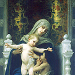 The Virgin and Child Jesus and St. John the Baptist, Adolphe William Bouguereau