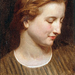 Adolphe William Bouguereau - Head study of a woman