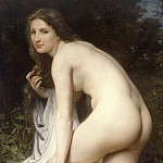 The bather, Adolphe William Bouguereau