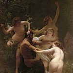 Nymphs and Satyr, Adolphe William Bouguereau