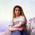 Shepherdess, Adolphe William Bouguereau