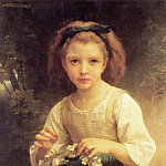 Adolphe William Bouguereau - Child braiding a crown