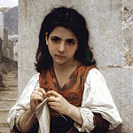 Adolphe William Bouguereau - Knitter