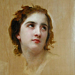 Study of a Young Girls Head, Adolphe William Bouguereau