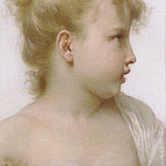 Study of young Girl, Adolphe William Bouguereau