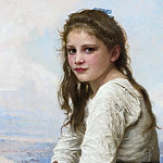 On the sea shore, Adolphe William Bouguereau