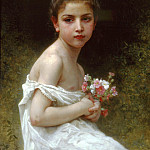Little girl with the bouquet, Adolphe William Bouguereau