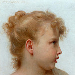 Girls head, Adolphe William Bouguereau