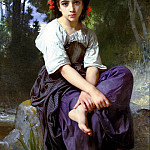 Adolphe William Bouguereau - At the Edge of the River