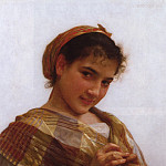 Young girl crocheting, Adolphe William Bouguereau