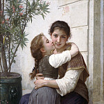 Adolphe William Bouguereau - A Little Coaxing