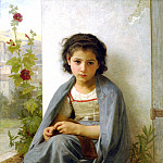 Knitter, Adolphe William Bouguereau