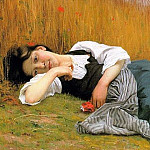 Adolphe William Bouguereau - Rest at Harvest