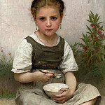 The morning breakfast, Adolphe William Bouguereau