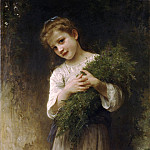 Returned from the fields, Adolphe William Bouguereau