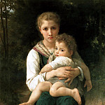 Brother and Sister, Adolphe William Bouguereau